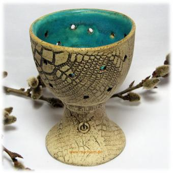 Räucherpokal Perfumum türkis