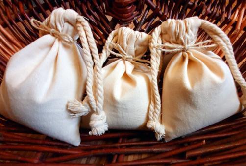 Räuchersand im Baumwollsäckchen